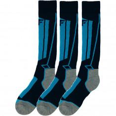 4F Skidstrumpor, 3 Par, Junior, blå