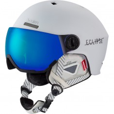 Cairn Eclipse Rescue, Skidhjälm med visir, Matt Vit Blå