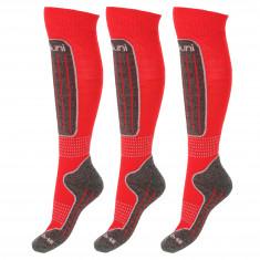 Deluni Skidstrumpor, 3 par, Röd