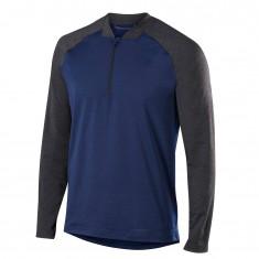 Falke 1/2 Zip Long Sleeved Shirt, herr mörkblå