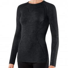 Falke Long Sleeved Shirt Wool-Tech, dam, svart