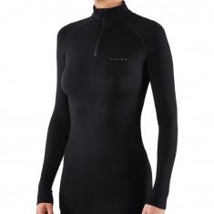 Falke Maximum Warm Zip Shirt, dam, svart