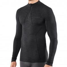 Falke Wool-Tech Zip Shirt Comfort, herr, svart