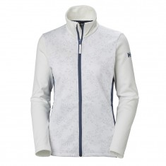 Helly Hansen W Graphic Fleece Jacket, Dam, Vit