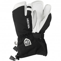 Hestra Army Leather Heli 3-finger Skidhandskar, Junior, Svart