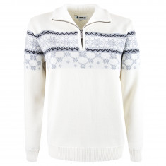Kama Gunhild Merino Sweater, Dam, Offvit
