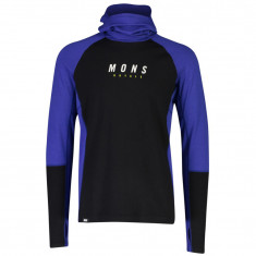 Mons Royale Olympus 3.0 Pullover Hood, Herr, Ultra Blue Black