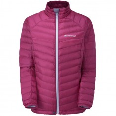 Montane Featherlite Down Micro Jacket, dunjacka, dam, french berry
