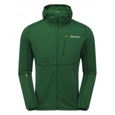 Montane Power Up Pull-Up Hoodie, herr, grön