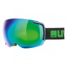 Uvex Big 40, Skidglasögon, Full Mirror, Svart/Grön