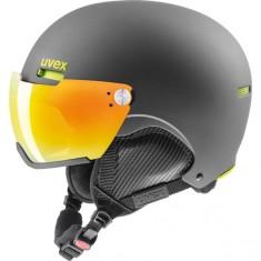 Uvex hlmt 500 skidhjälm med visir, svart/lime