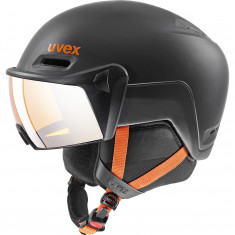 Uvex hlmt 600 Skidhjälm Med visir, Svart/Orange