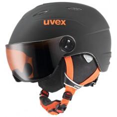 Uvex junior pro, skidhjälm med visir, Svart