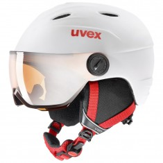 Uvex junior pro, skidhjälm med visir, Vit